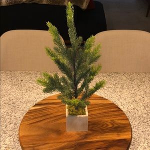 Small faux pine plant